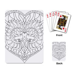 Heart Love Valentines Day Playing Card