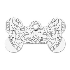 Heart Love Valentines Day Dog Tag Bone (two Sides)