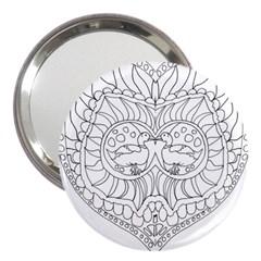 Heart Love Valentines Day 3  Handbag Mirrors