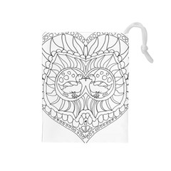 Heart Love Valentines Day Drawstring Pouches (medium)