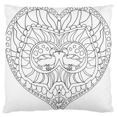 Heart Love Valentines Day Large Flano Cushion Case (two Sides)