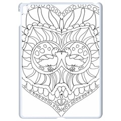 Heart Love Valentines Day Apple Ipad Pro 9 7   White Seamless Case