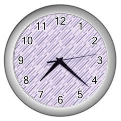 Halloween Lilac Paper Pattern Wall Clocks (silver)