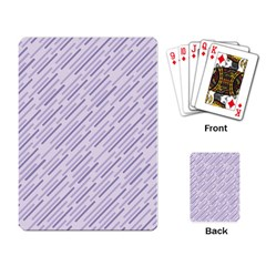 Halloween Lilac Paper Pattern Playing Card