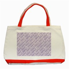 Halloween Lilac Paper Pattern Classic Tote Bag (red)