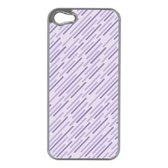 Halloween Lilac Paper Pattern Apple Iphone 5 Case (silver)