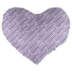 Halloween Lilac Paper Pattern Large 19  Premium Heart Shape Cushions