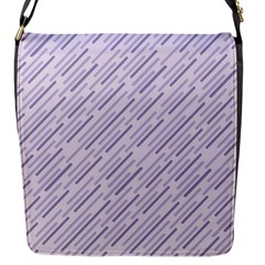 Halloween Lilac Paper Pattern Flap Messenger Bag (s)