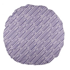 Halloween Lilac Paper Pattern Large 18  Premium Flano Round Cushions