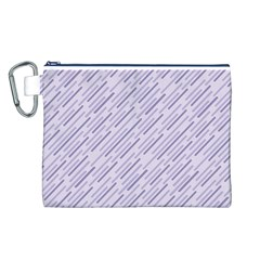 Halloween Lilac Paper Pattern Canvas Cosmetic Bag (l)