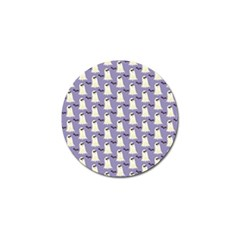 Bat And Ghost Halloween Lilac Paper Pattern Golf Ball Marker (4 Pack)