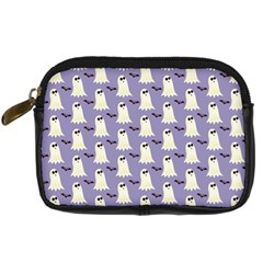Bat And Ghost Halloween Lilac Paper Pattern Digital Camera Cases