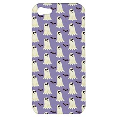 Bat And Ghost Halloween Lilac Paper Pattern Apple Iphone 5 Hardshell Case