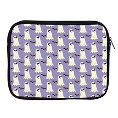Bat And Ghost Halloween Lilac Paper Pattern Apple Ipad 2/3/4 Zipper Cases