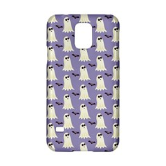 Bat And Ghost Halloween Lilac Paper Pattern Samsung Galaxy S5 Hardshell Case