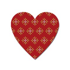 Pattern Background Holiday Heart Magnet