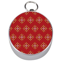 Pattern Background Holiday Silver Compasses
