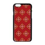 Pattern Background Holiday Apple iPhone 6/6S Black Enamel Case Front