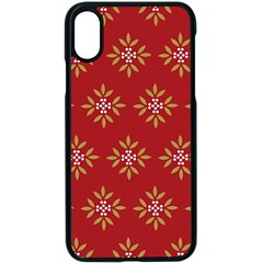 Pattern Background Holiday Apple Iphone X Seamless Case (black)