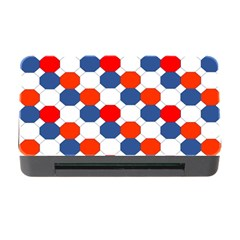 Geometric Design Red White Blue Memory Card Reader With Cf