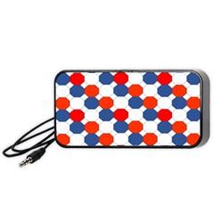 Geometric Design Red White Blue Portable Speaker