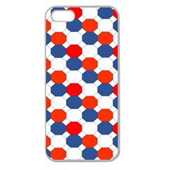 Geometric Design Red White Blue Apple Seamless Iphone 5 Case (clear)