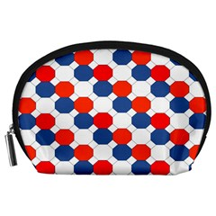 Geometric Design Red White Blue Accessory Pouches (large)