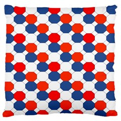 Geometric Design Red White Blue Standard Flano Cushion Case (one Side)