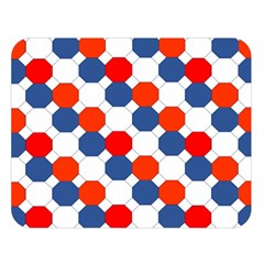 Geometric Design Red White Blue Double Sided Flano Blanket (large)