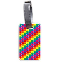 Rainbow 3d Cubes Red Orange Luggage Tags (two Sides)