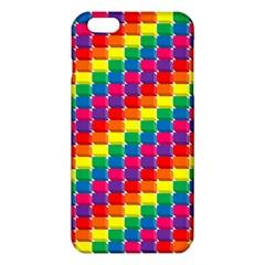Rainbow 3d Cubes Red Orange Iphone 6 Plus/6s Plus Tpu Case