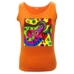 Seamless Tile Background Abstract Women s Dark Tank Top