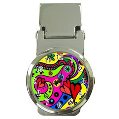Seamless Tile Background Abstract Money Clip Watches