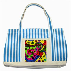 Seamless Tile Background Abstract Striped Blue Tote Bag