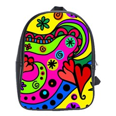 Seamless Tile Background Abstract School Bag (xl)