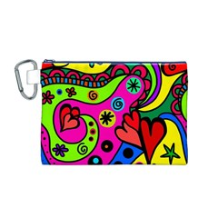 Seamless Tile Background Abstract Canvas Cosmetic Bag (m)