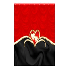 Red Black Background Wallpaper Bg Shower Curtain 48  X 72  (small)