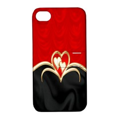 Red Black Background Wallpaper Bg Apple Iphone 4/4s Hardshell Case With Stand