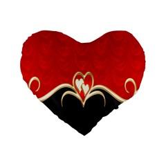 Red Black Background Wallpaper Bg Standard 16  Premium Flano Heart Shape Cushions