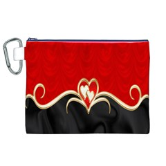 Red Black Background Wallpaper Bg Canvas Cosmetic Bag (xl)