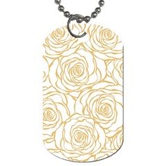 Yellow Peonies Dog Tag (two Sides)