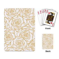 Yellow Peonies Playing Card