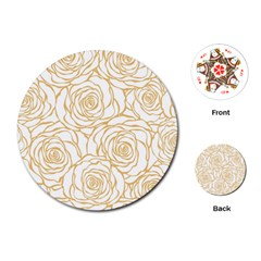 Yellow Peonies Playing Cards (round)