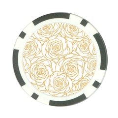 Yellow Peonies Poker Chip Card Guard