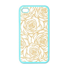Yellow Peonies Apple Iphone 4 Case (color)