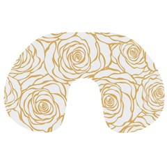 Yellow Peonies Travel Neck Pillows