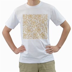 Yellow Peonies Men s T Shirt (white)