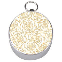 Yellow Peonies Silver Compasses