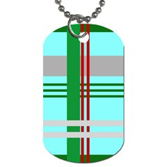 Christmas Plaid Backgrounds Plaid Dog Tag (two Sides)
