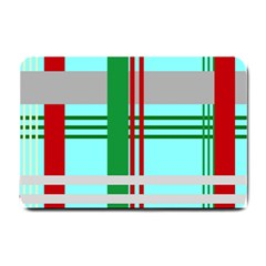 Christmas Plaid Backgrounds Plaid Small Doormat